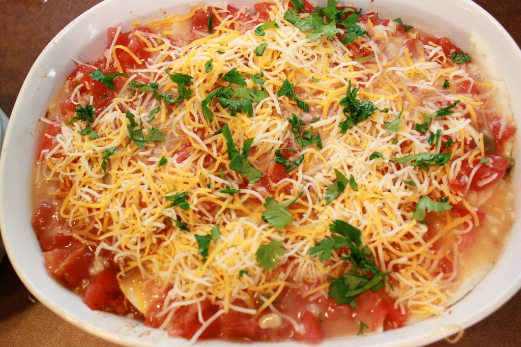 King Ranch Chicken- Ready for the oven