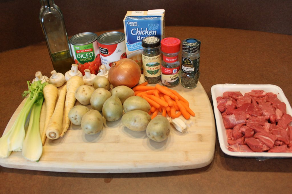 Savory Beef Stew- Ingredients
