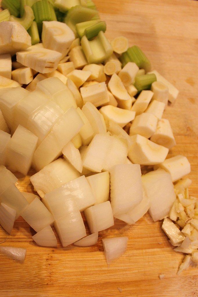 Savory Beef Stew- Onion, Parsnip, Celery, Garlic