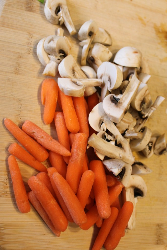 Savory Beef Stew- Mushrooms and Carrots