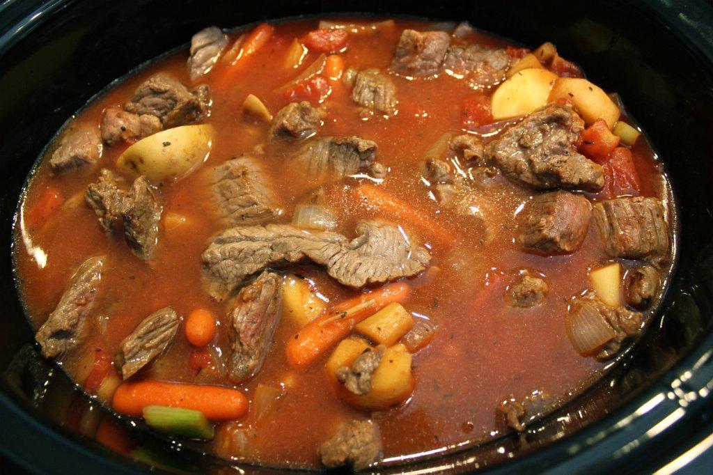 Savory Beef Stew- Crock pot turned on