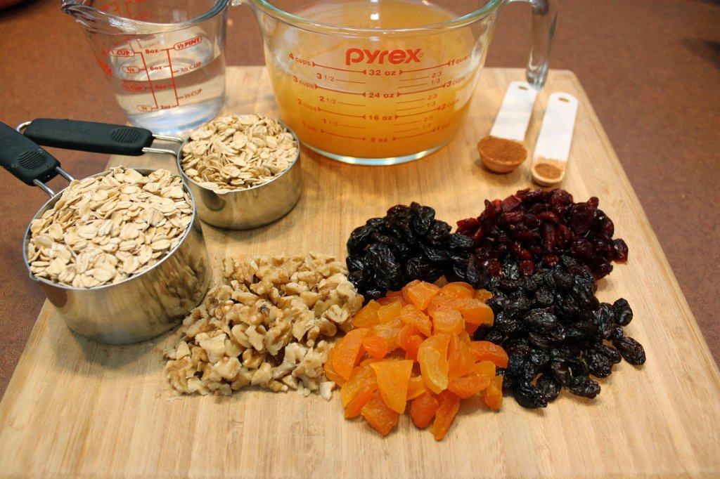 Apple Cider Oatmeal Ingredients