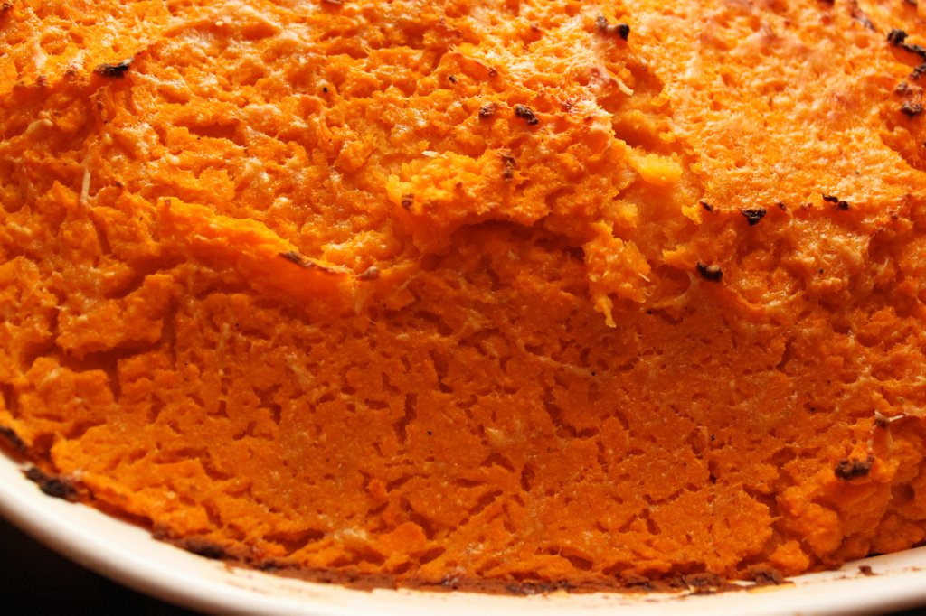 Sweet Potato Cottage Pie- broiled